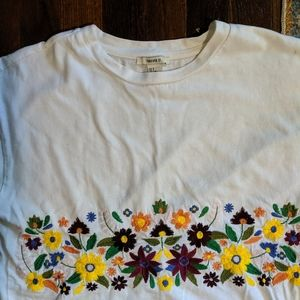 Embroidered Crop Top, Forever 21